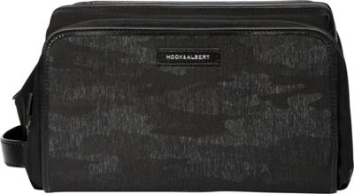 Hook & Albert Hook & Albert Camo Print Travel Toiletry Kit Black Camo - Hook & Albert Toiletry Kits