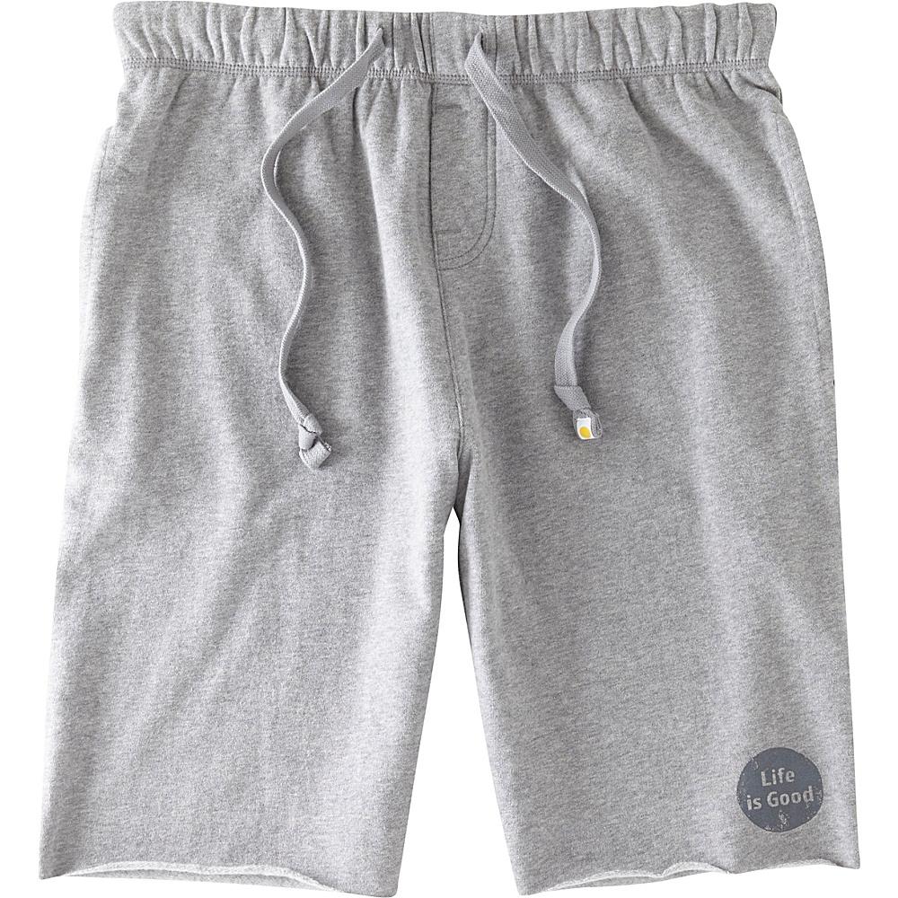 Life is good Mens Fleece Lounge Short S - Heather Gray - Life is good Mens Apparel - Apparel & Footwear, Men's Apparel