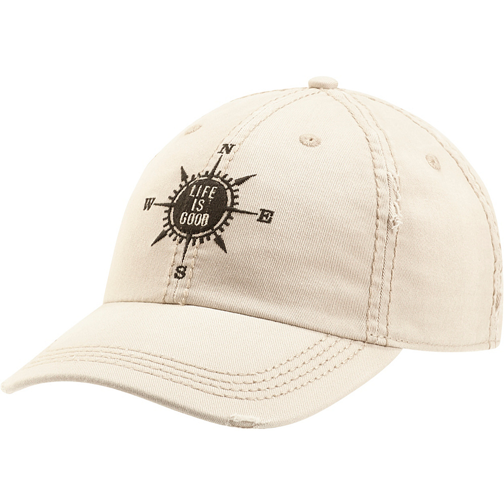 Life is good Sunwashed Chill LIG Compass One Size - Bone - Life is good Hats - Fashion Accessories, Hats