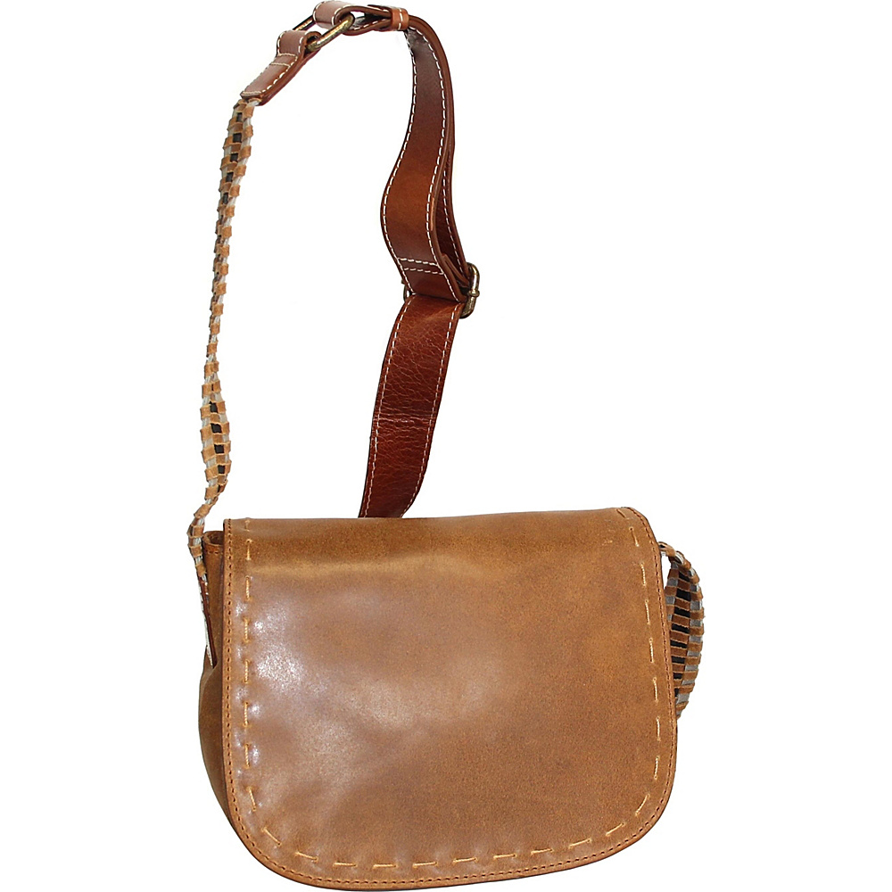 Nino Bossi Marla Leather Crossbody Saddle - Nino Bossi Leather Handbags - Handbags, Leather Handbags