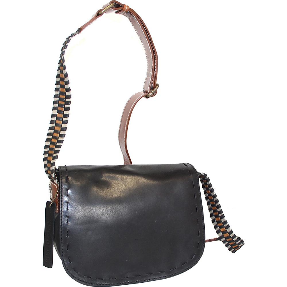 Nino Bossi Marla Leather Crossbody Black - Nino Bossi Leather Handbags - Handbags, Leather Handbags