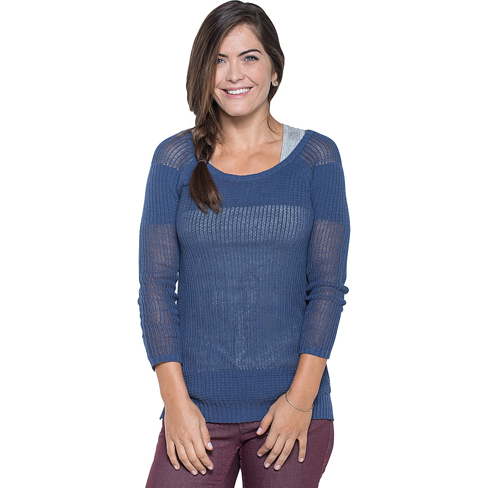 Toad & Co Floreana 3/4 Sweater S - Indigo - Toad & Co Womens Apparel - Apparel & Footwear, Women's Apparel