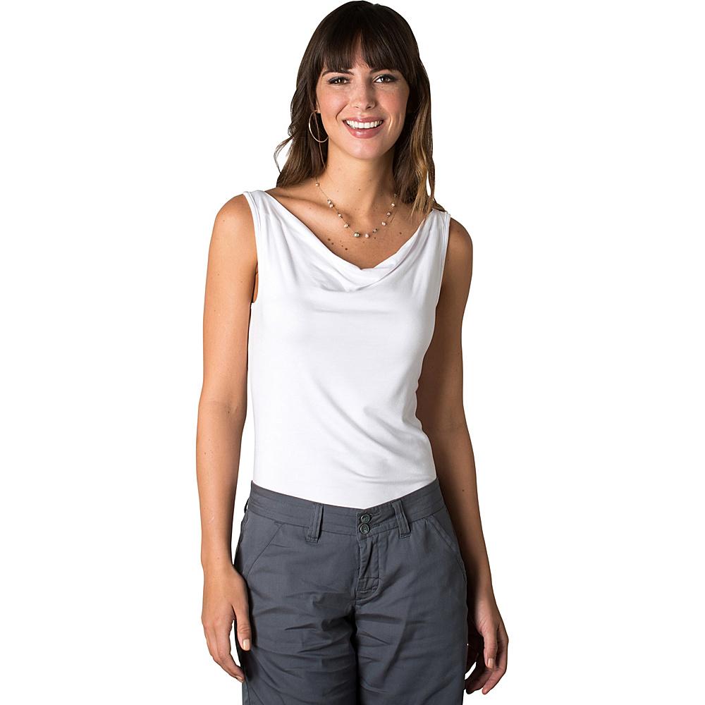 Toad & Co Wisper Double Tank L - White - Toad & Co Womens Apparel - Apparel & Footwear, Women's Apparel