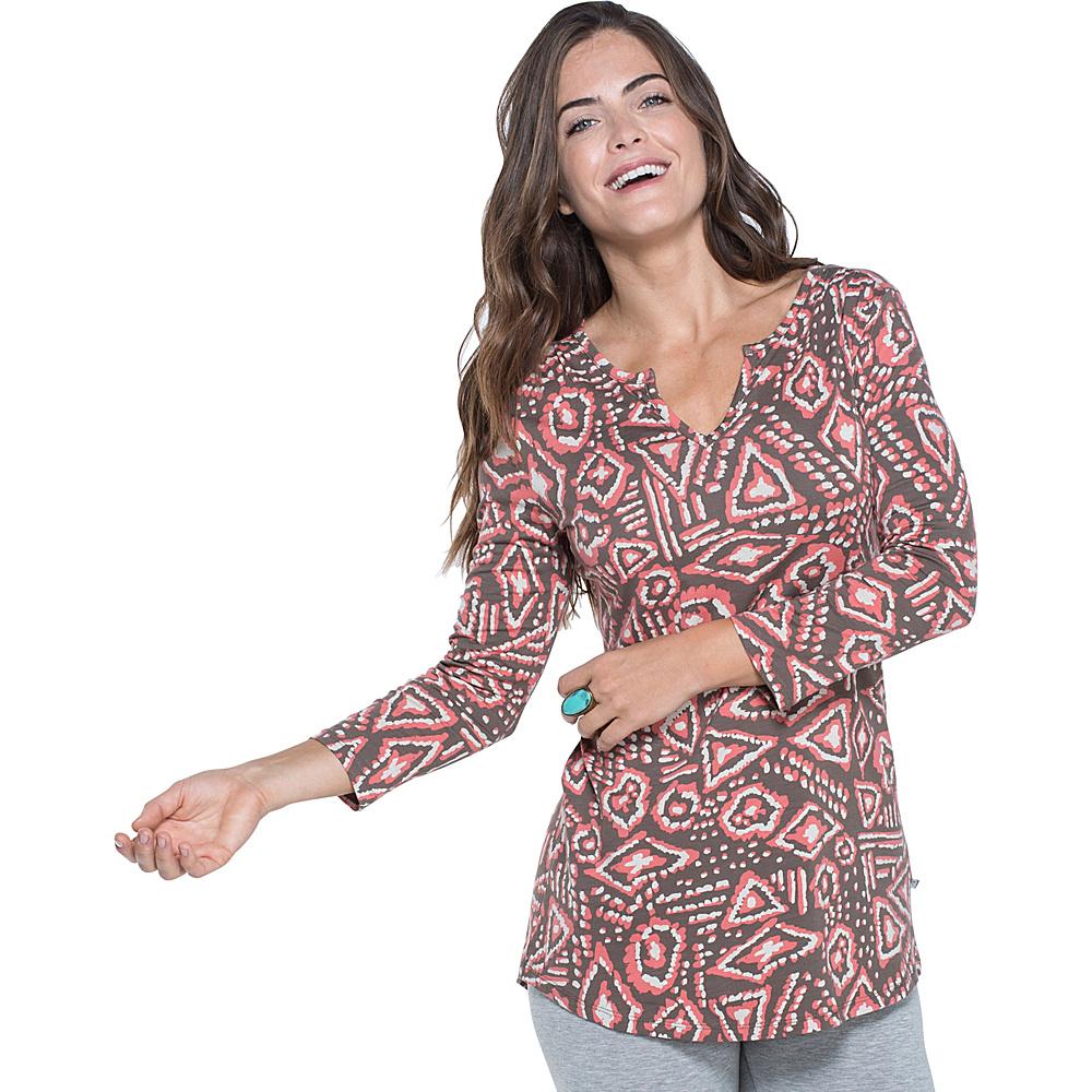 Toad & Co Tamaya Dos Tunic XL - Falcon Brown Brush Print - Toad & Co Womens Apparel - Apparel & Footwear, Women's Apparel