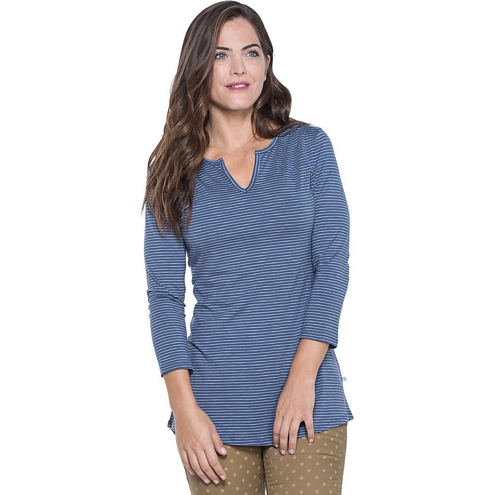 Toad & Co Tamaya Dos Tunic XS - Indigo Stripe - Toad & Co Womens Apparel - Apparel & Footwear, Women's Apparel