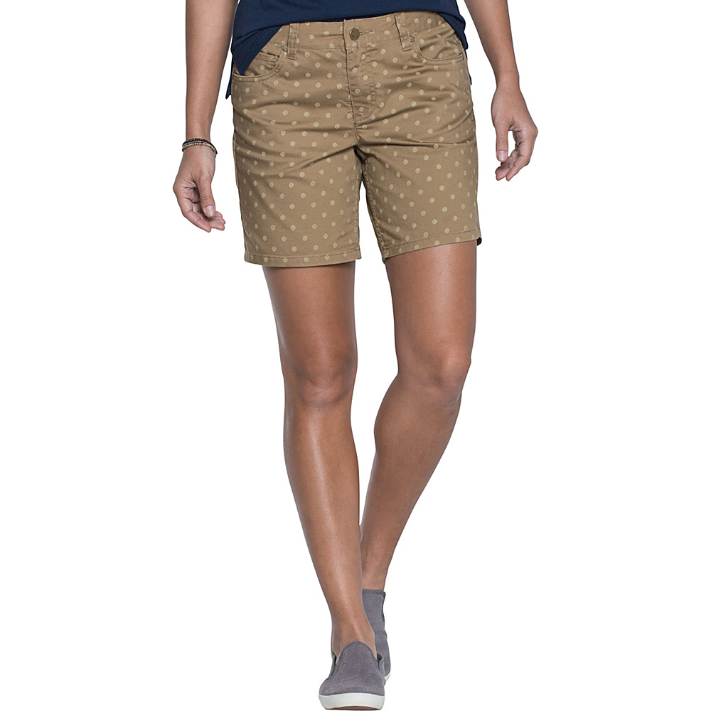 Toad & Co Lola Short 14 - 7in - Honey Brown Polka Dot Print - Toad & Co Womens Apparel - Apparel & Footwear, Women's Apparel