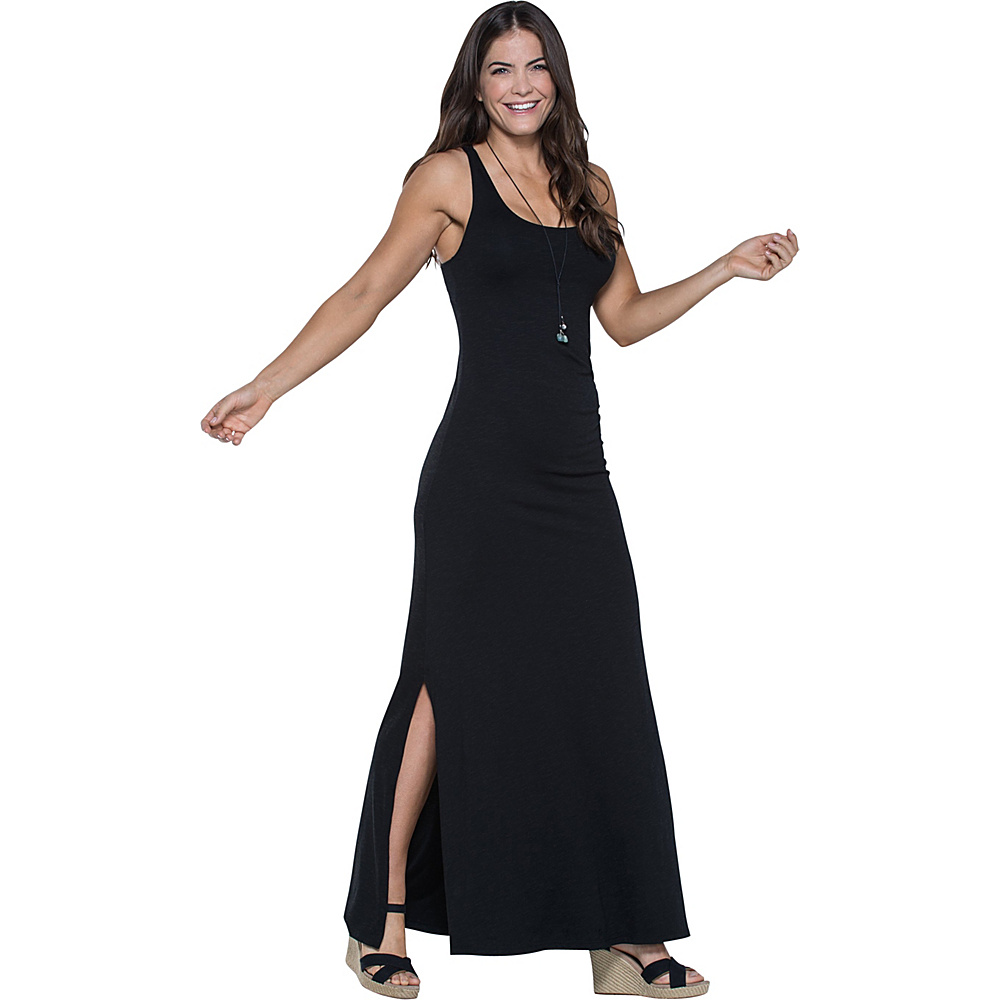 Toad & Co Montauket Long Dress L - Black - Toad & Co Womens Apparel - Apparel & Footwear, Women's Apparel