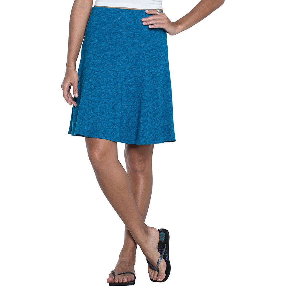 Toad & Co Chachacha Skirt XL - Seaport Quito Line Print - Toad & Co Womens Apparel - Apparel & Footwear, Women's Apparel
