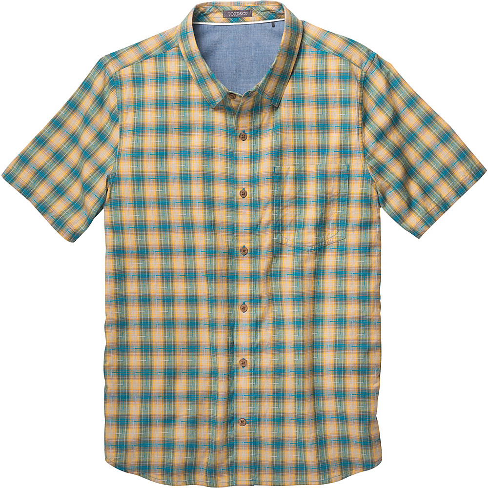 Toad & Co Airscape Short Sleeve Shirt XXL - Seaport - Toad & Co Mens Apparel - Apparel & Footwear, Men's Apparel