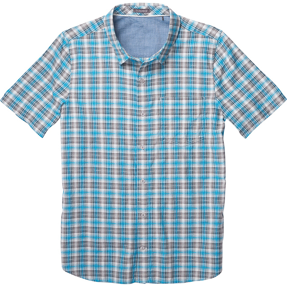 Toad & Co Airscape Short Sleeve Shirt L - Blue Foot - Toad & Co Mens Apparel - Apparel & Footwear, Men's Apparel
