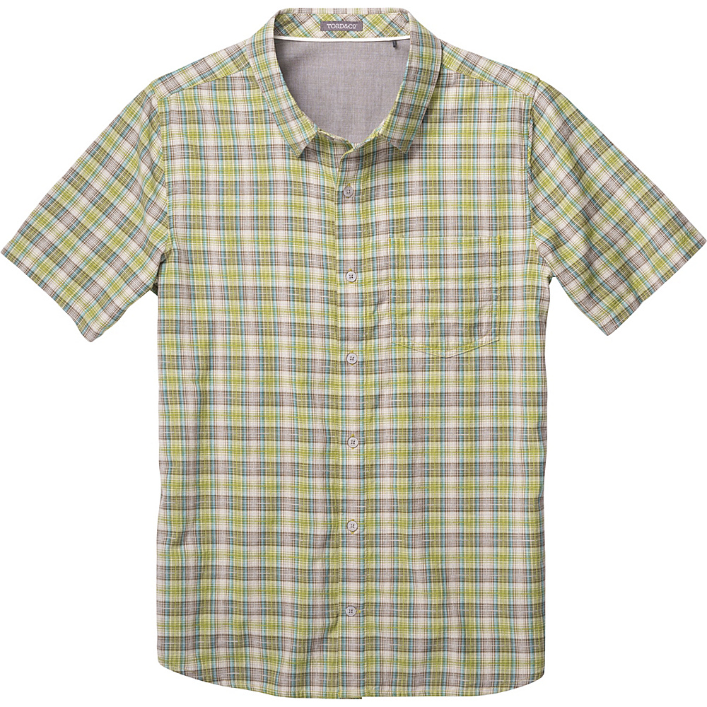 Toad & Co Airscape Short Sleeve Shirt L - Iguana - Toad & Co Mens Apparel - Apparel & Footwear, Men's Apparel