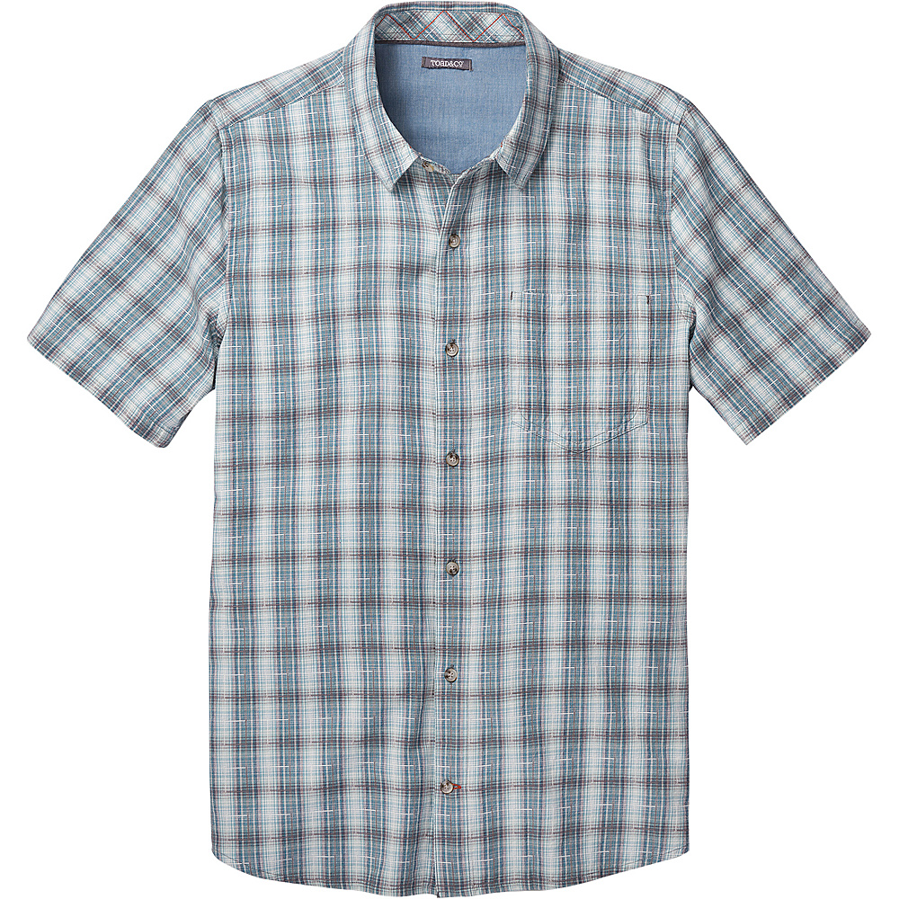 Toad & Co Airscape Short Sleeve Shirt S - Smoke - Toad & Co Mens Apparel - Apparel & Footwear, Men's Apparel