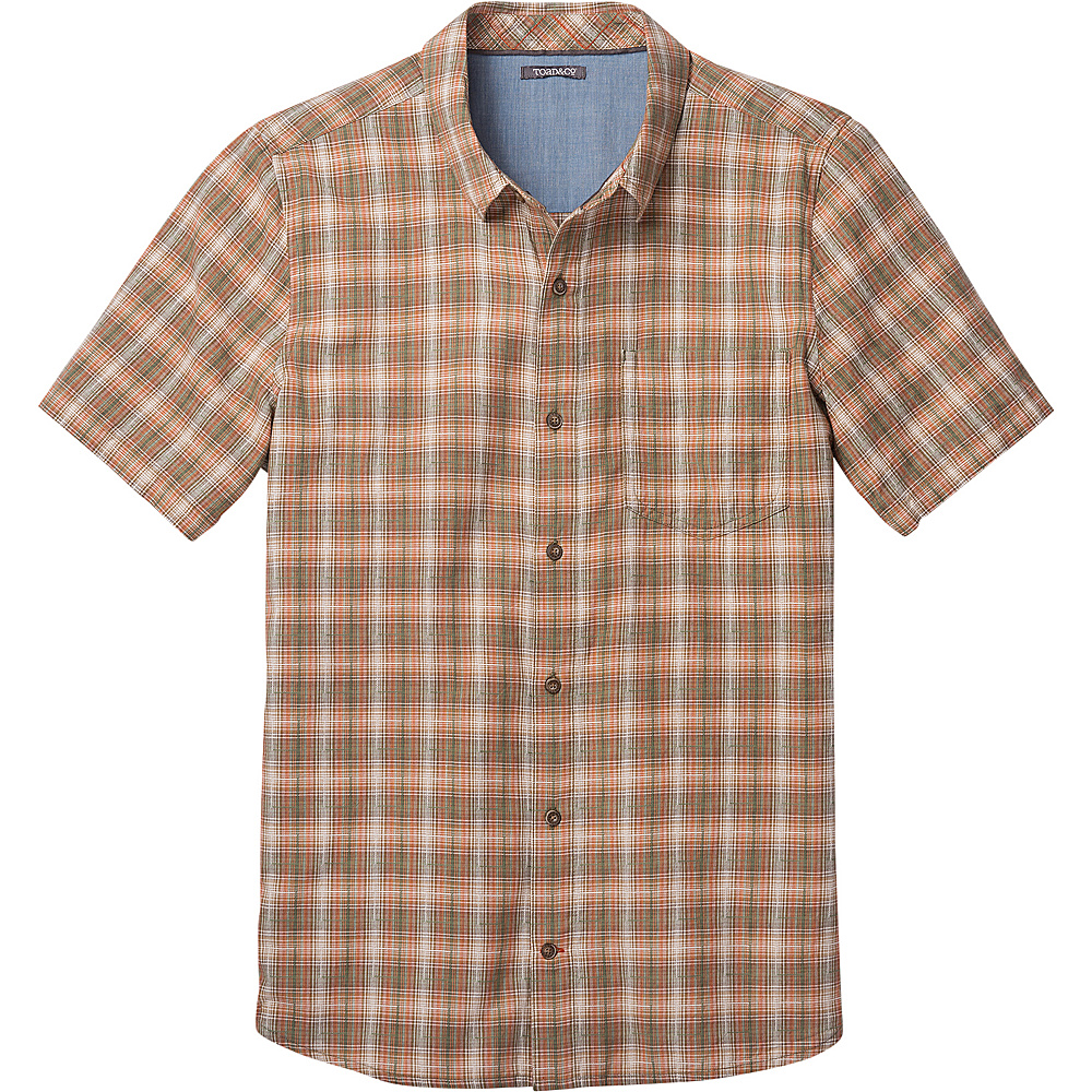 Toad & Co Airscape Short Sleeve Shirt XL - Thyme - Toad & Co Mens Apparel - Apparel & Footwear, Men's Apparel