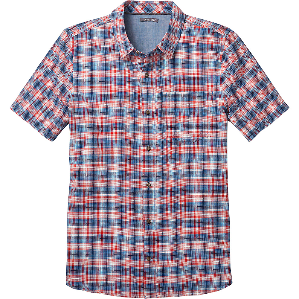 Toad & Co Airscape Short Sleeve Shirt S - Deep Navy - Toad & Co Mens Apparel - Apparel & Footwear, Men's Apparel