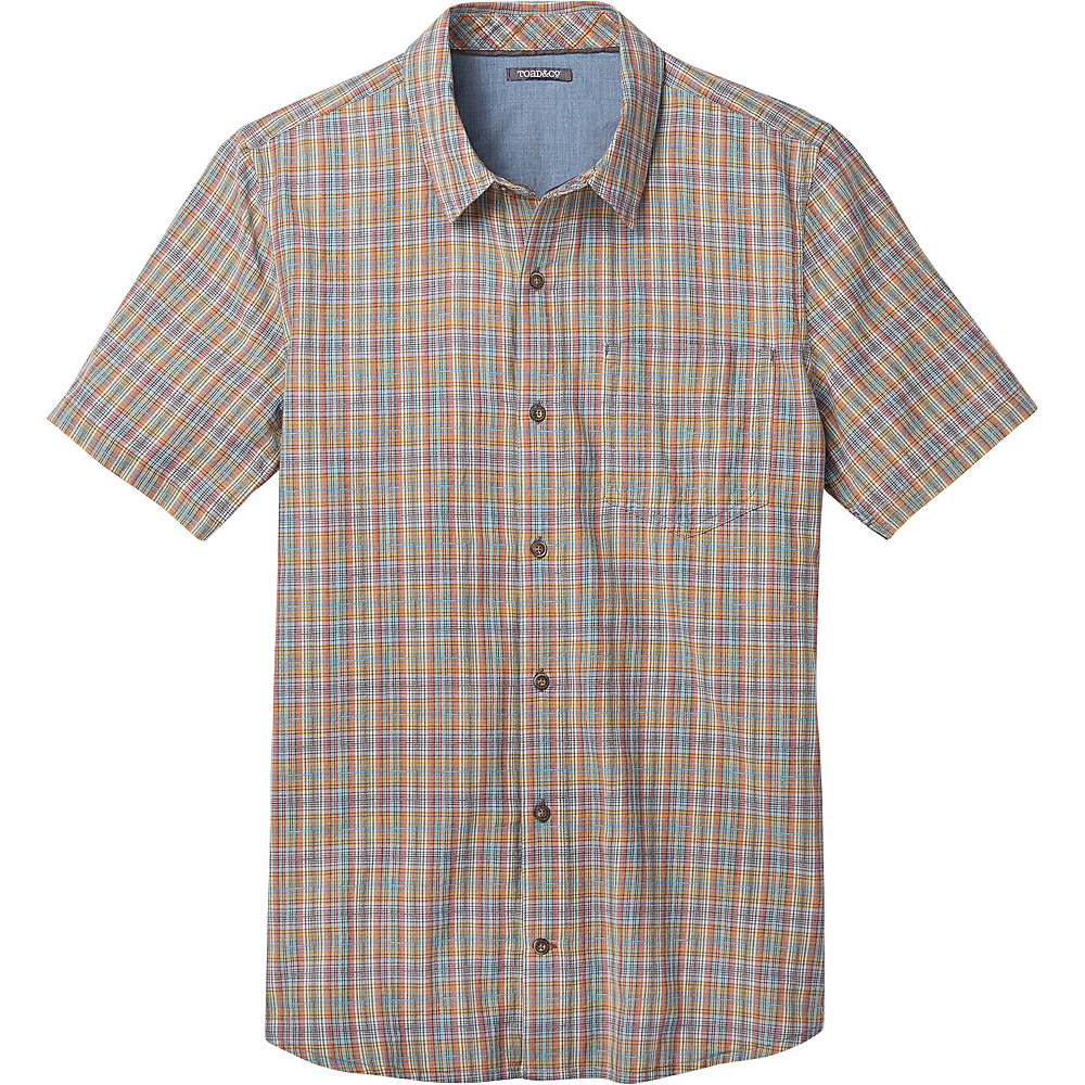 Toad & Co Airscape Short Sleeve Shirt M - Azores - Toad & Co Mens Apparel - Apparel & Footwear, Men's Apparel