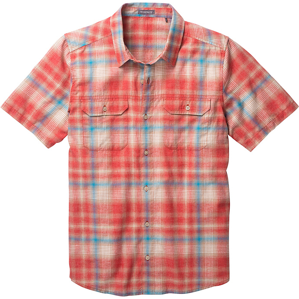 Toad & Co Hookline Short Sleeve Shirt XXL - Red Clay - Toad & Co Mens Apparel - Apparel & Footwear, Men's Apparel