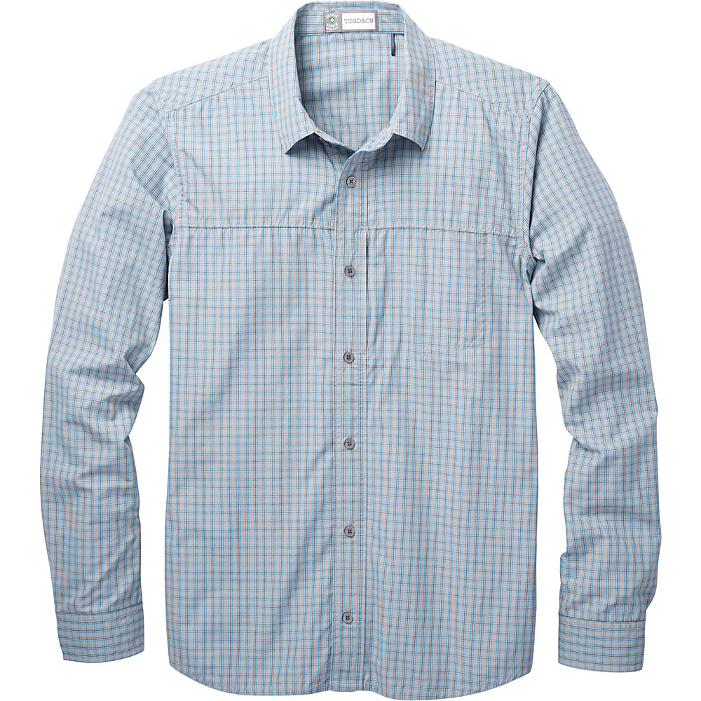 Toad & Co Debug Quick-Dry Long Sleeve Shirt S - Light Ash - Toad & Co Mens Apparel - Apparel & Footwear, Men's Apparel