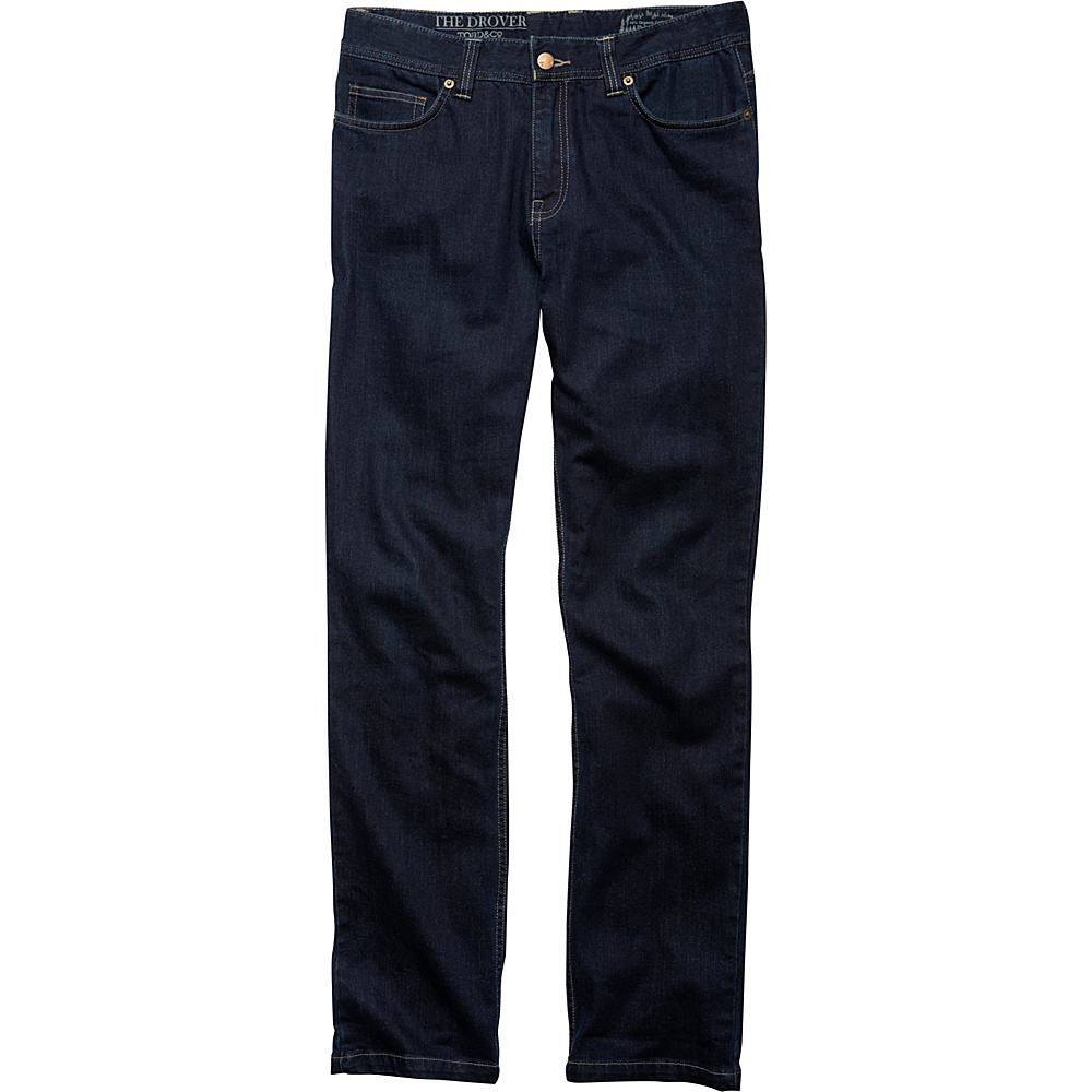 Toad & Co Drover Lean Denim Pant 34 - 34in - Dark Denim - Toad & Co Mens Apparel - Apparel & Footwear, Men's Apparel