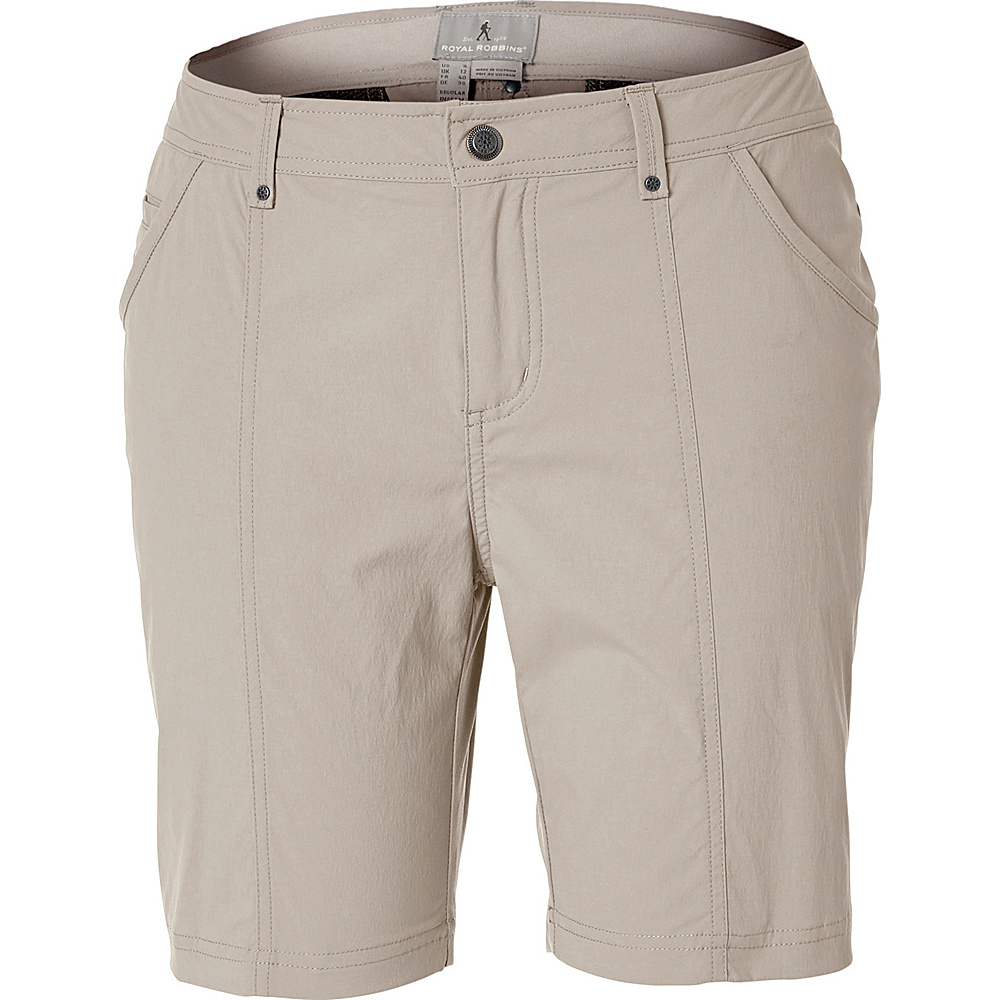 Royal Robbins Womens Discovery Short 14 - 8in - Sandstone - Royal Robbins Womens Apparel - Apparel & Footwear, Women's Apparel