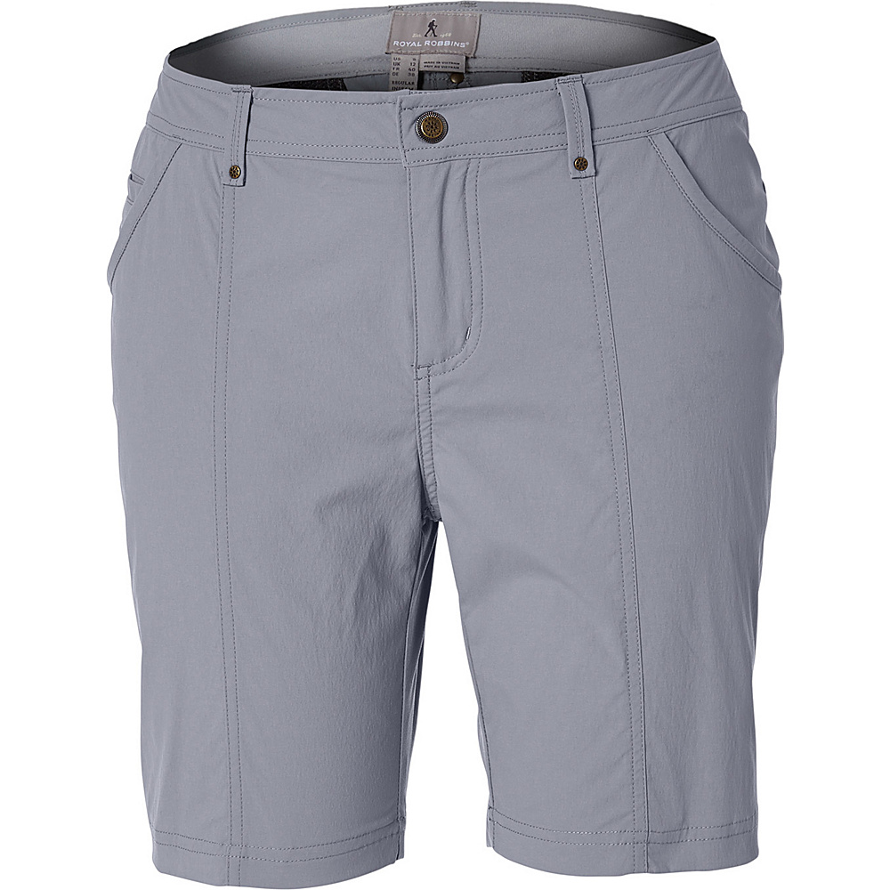 Royal Robbins Womens Discovery Short 4 - 8in - Light Pewter - Royal Robbins Womens Apparel - Apparel & Footwear, Women's Apparel