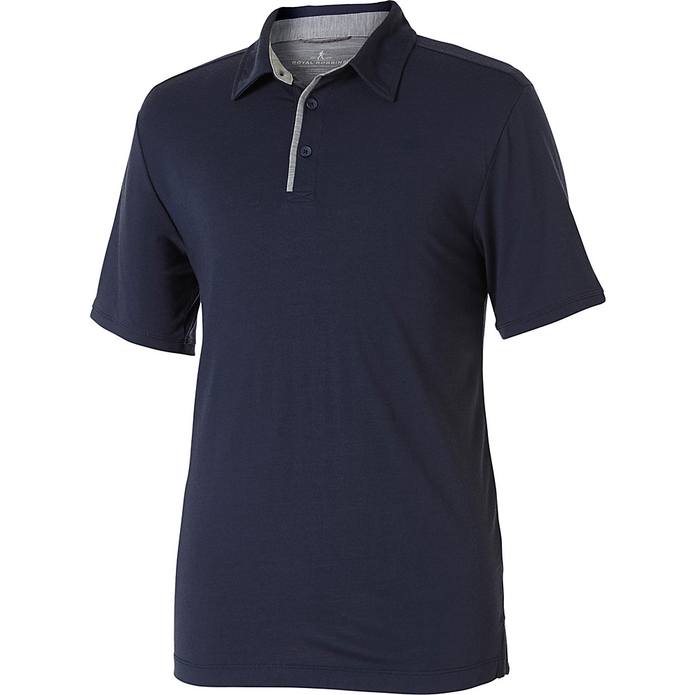 Royal Robbins Mens Merinolux Polo XXL - Navy - Royal Robbins Mens Apparel - Apparel & Footwear, Men's Apparel