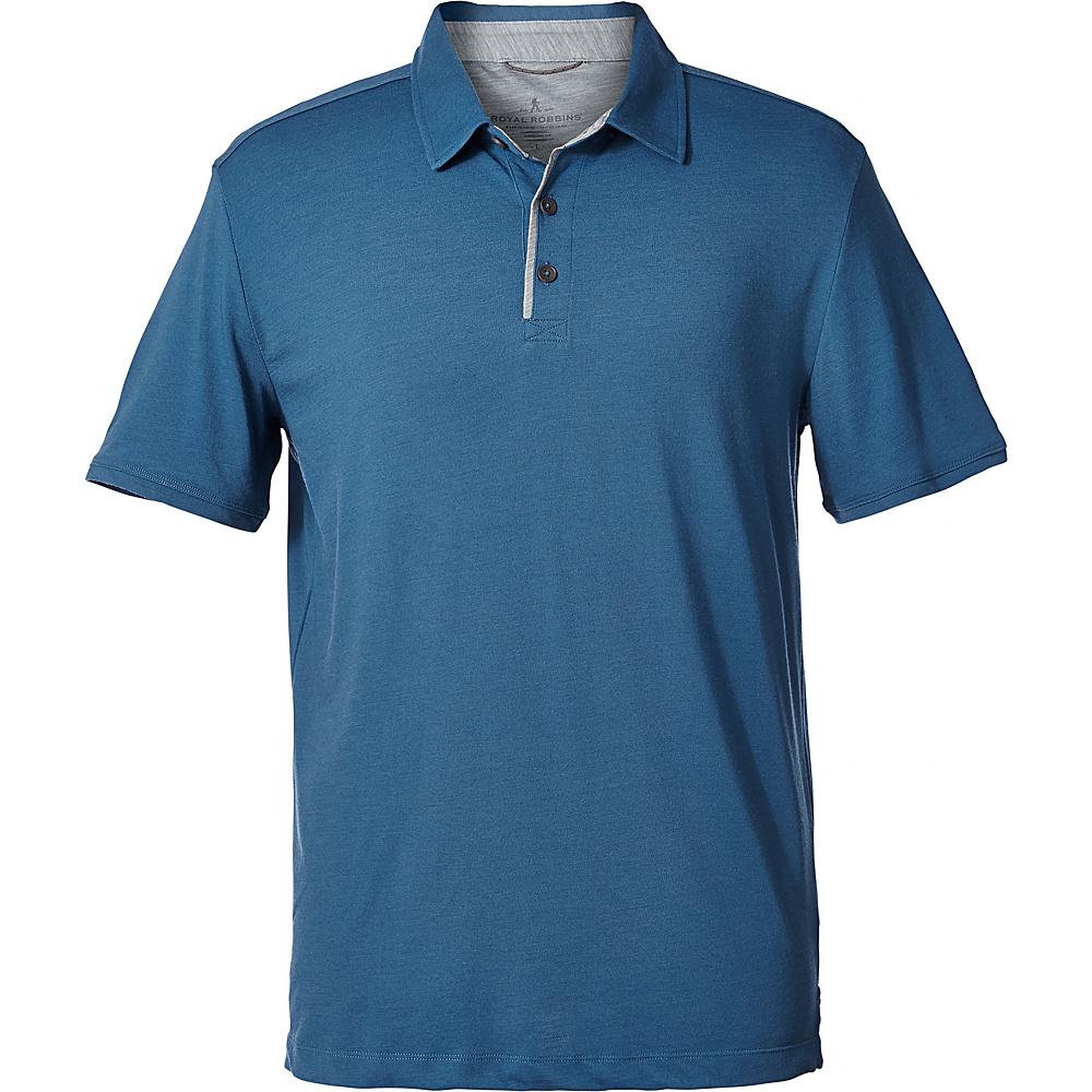 Royal Robbins Mens Merinolux Polo M - Bluestone - Royal Robbins Mens Apparel - Apparel & Footwear, Men's Apparel