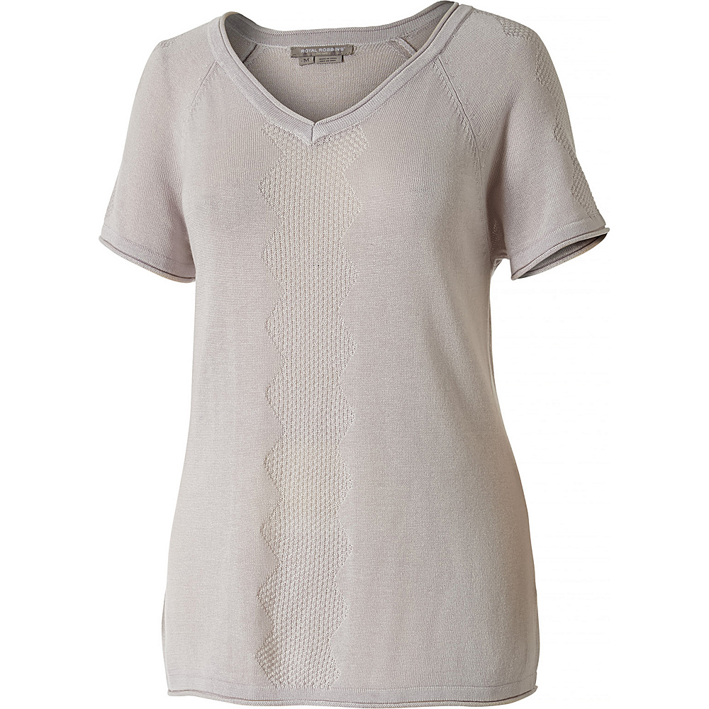 Royal Robbins Womens Calaveras S/S Sweater L - Sand Dollar - Royal Robbins Womens Apparel - Apparel & Footwear, Women's Apparel