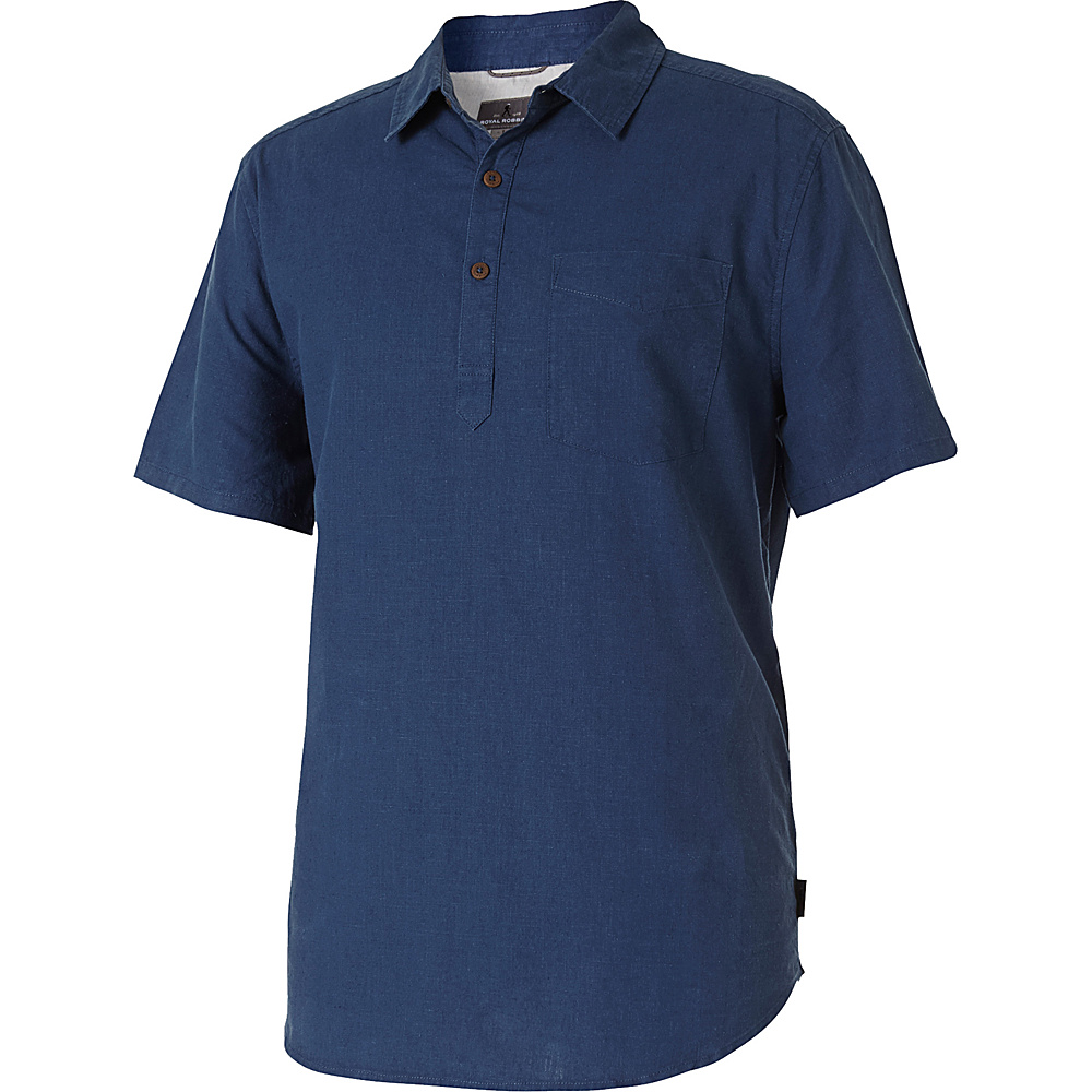 Royal Robbins Mens Salton Sea Short Sleeve Popover XL - Collins Blue - Royal Robbins Mens Apparel - Apparel & Footwear, Men's Apparel