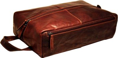 Jack Georges Voyager Large Toiletry Kit/Shoe Bag Brown - Jack Georges Toiletry Kits