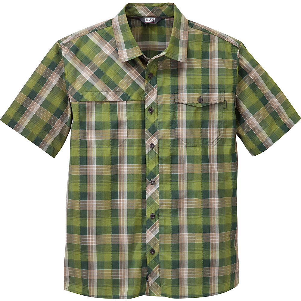 Outdoor Research Mens Riff Shirt XL - Kale - Outdoor Research Mens Apparel - Apparel & Footwear, Men's Apparel