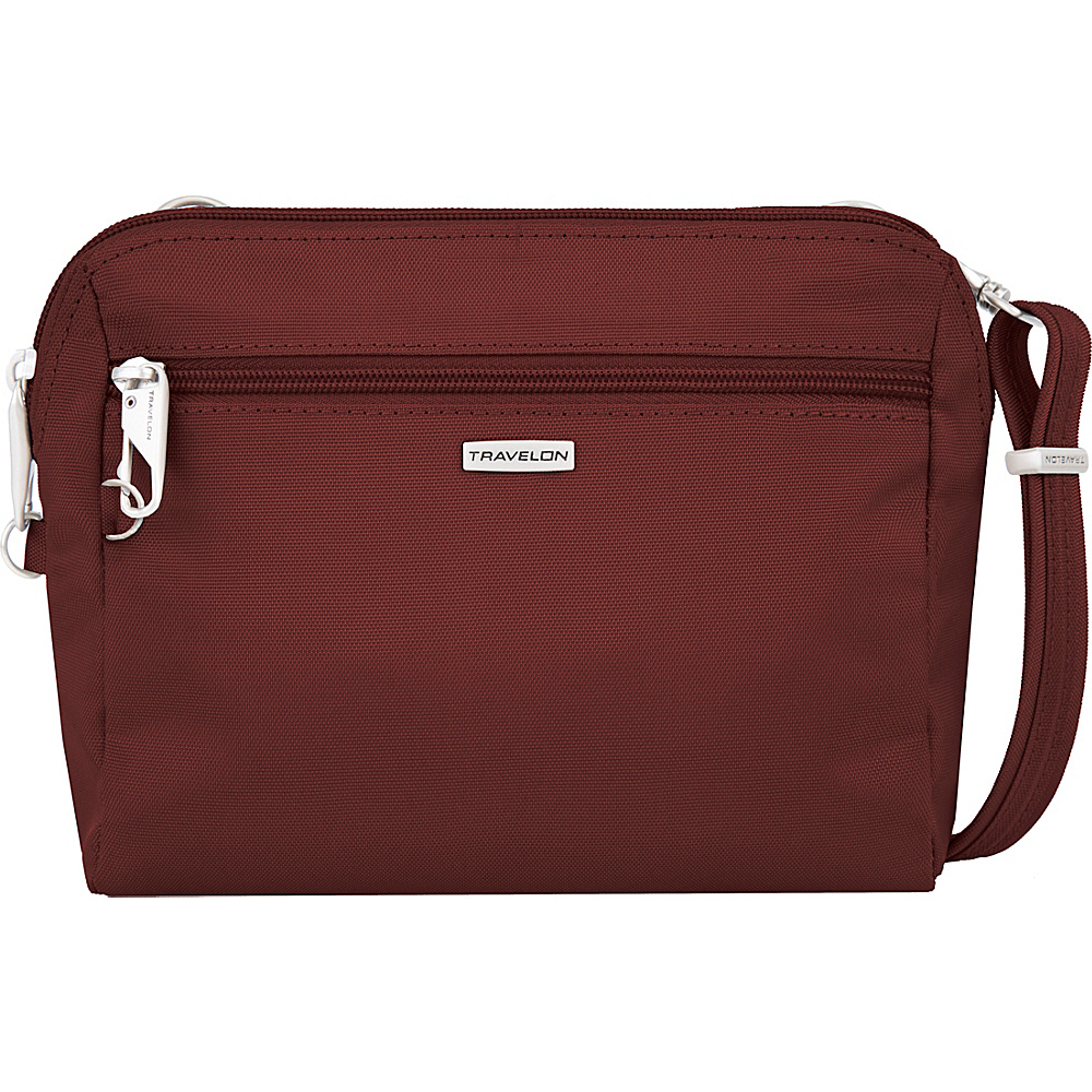 Travelon Anti-Theft Classic Convertible Crossbody and Waist Pack Wine - Travelon Fabric Handbags - Handbags, Fabric Handbags