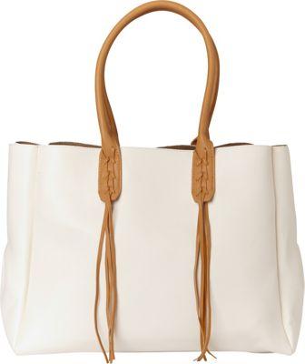 Sondra Roberts Fringe Benefit Tote White - Sondra Roberts Manmade Handbags
