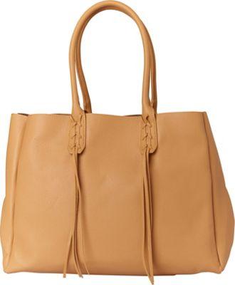 Sondra Roberts Fringe Benefit Tote Camel - Sondra Roberts Manmade Handbags