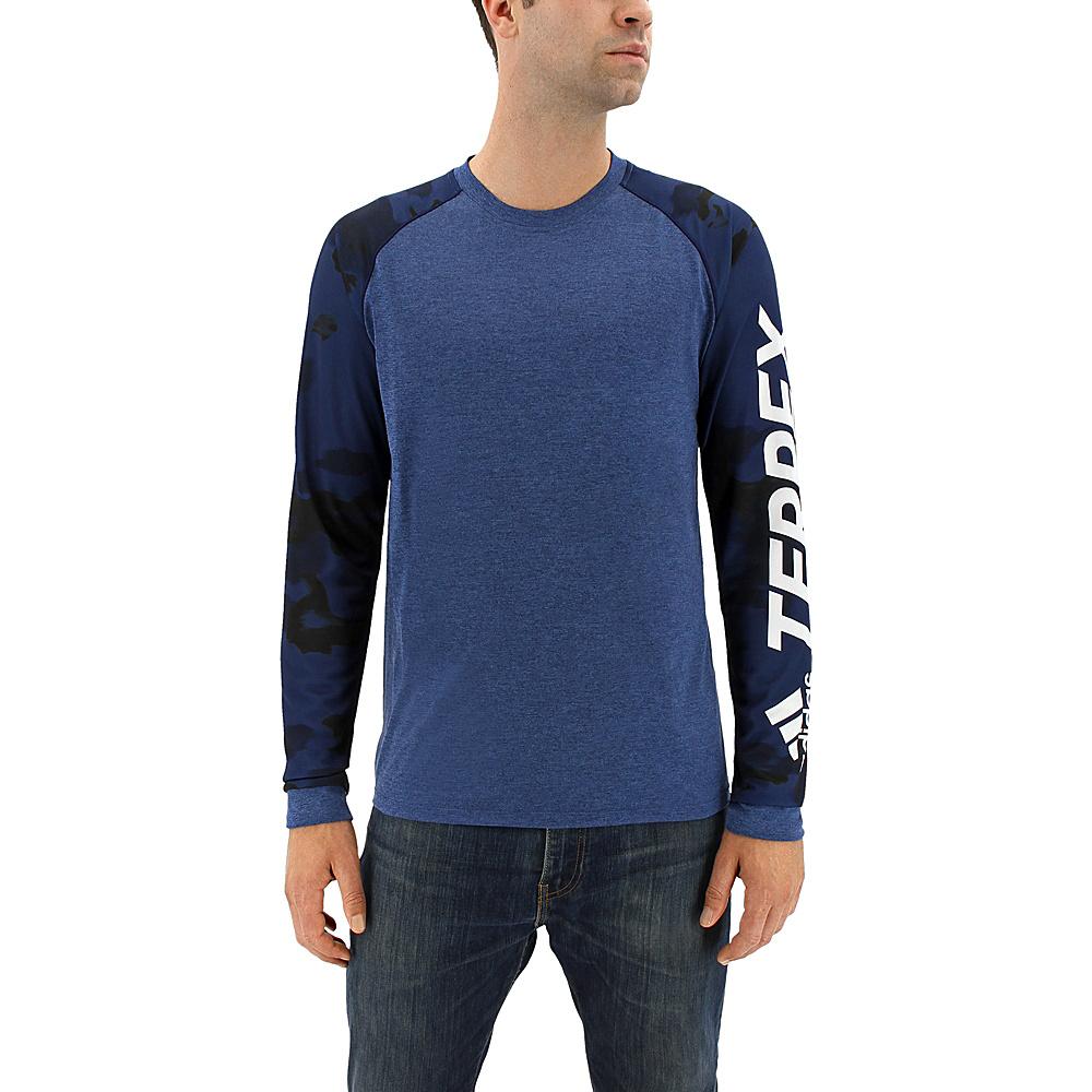 adidas outdoor Mens Trailcross Long Sleeve 2XL - Col. Navy - adidas outdoor Mens Apparel - Apparel & Footwear, Men's Apparel