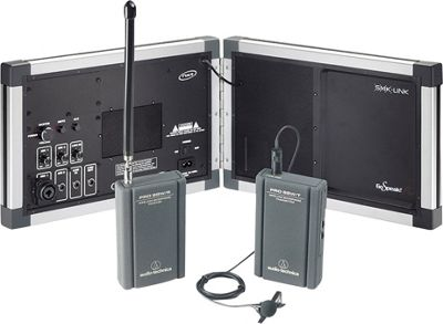 SMK-Link GoSpeak! Pro Ultra-Portable Amplification System with Wireless Lapel Microphone Silver - SMK-Link Portable Entertainment