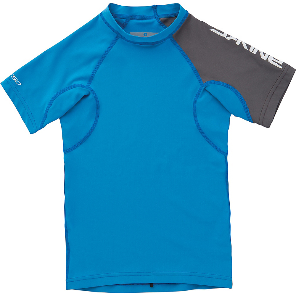 DAKINE Boys Heavy Duty Snug Fit Short Sleeve 8 - Tabor Blue - DAKINE Womens Apparel - Apparel & Footwear, Women's Apparel