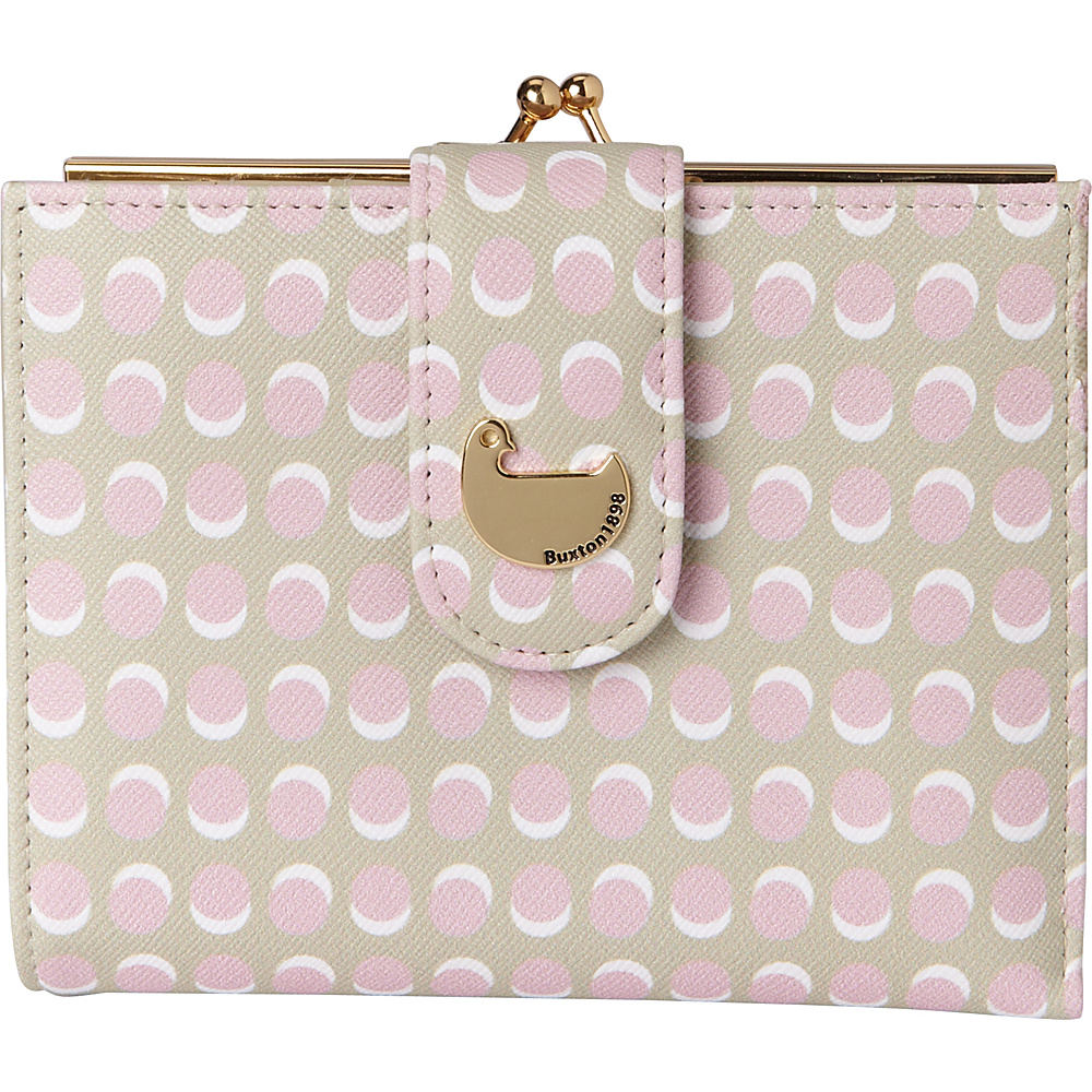 Buxton Dotty Dots Lexington Wallet Peach Skin - Buxton Womens Wallets - Women's SLG, Women's Wallets