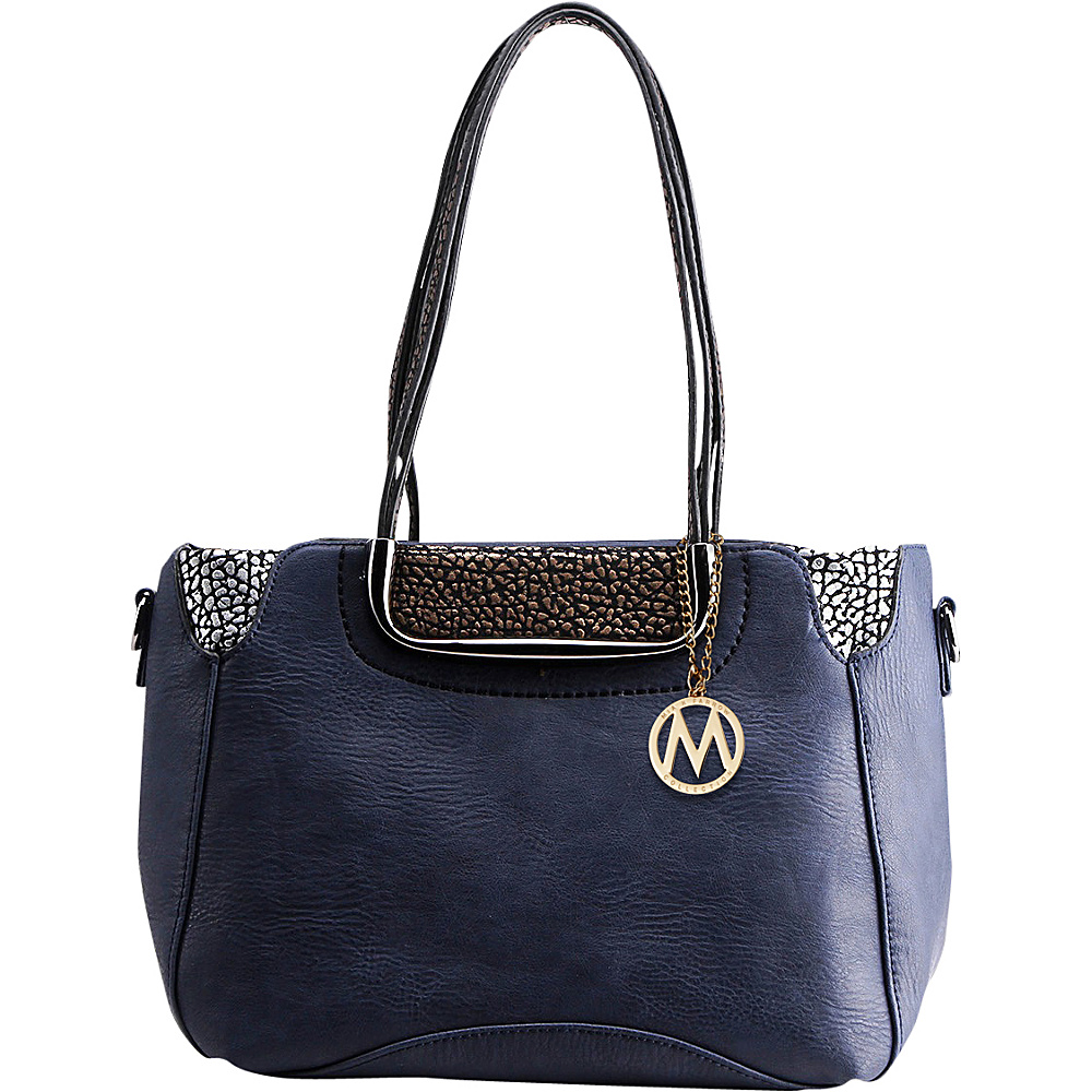 MKF Collection by Mia K. Farrow Marley Shoulder Handbag Navy - MKF Collection by Mia K. Farrow Manmade Handbags - Handbags, Manmade Handbags
