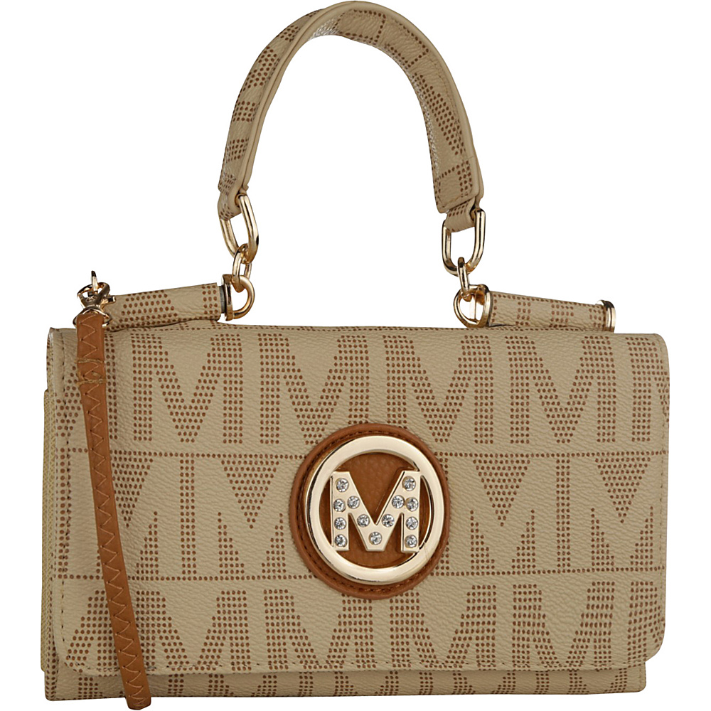 MKF Collection by Mia K. Farrow Luciene 3 In 1 M Signature Cross-Body and Wallet Beige - MKF Collection by Mia K. Farrow Manmade Handbags - Handbags, Manmade Handbags