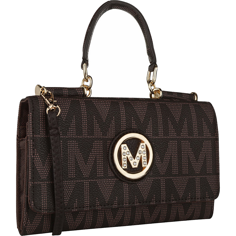 MKF Collection by Mia K. Farrow Luciene 3 In 1 M Signature Cross-Body and Wallet Chocolate - MKF Collection by Mia K. Farrow Manmade Handbags - Handbags, Manmade Handbags
