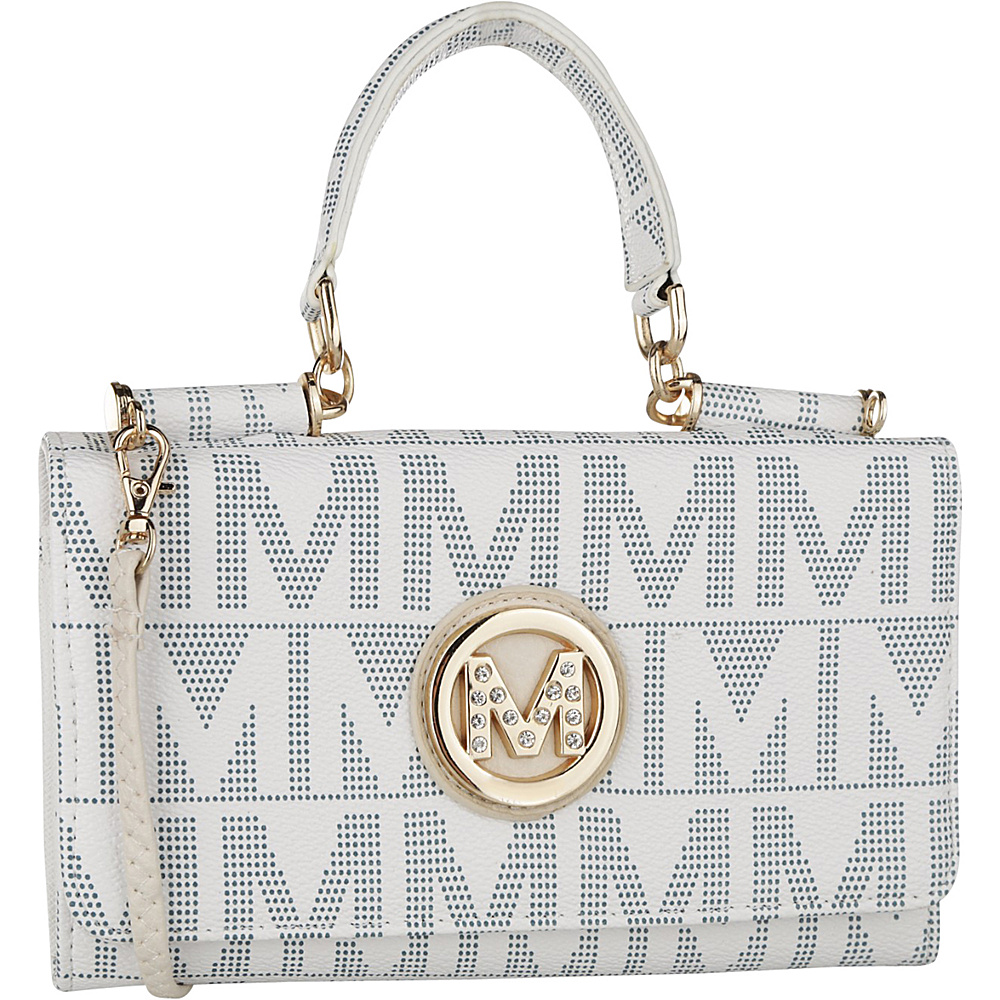 MKF Collection by Mia K. Farrow Luciene 3 In 1 M Signature Cross-Body and Wallet White - MKF Collection by Mia K. Farrow Manmade Handbags - Handbags, Manmade Handbags