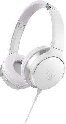 Audio Technica SonicFuel On-Ear Headphones with Mic & Control White - Audio Technica Headphones & Speakers