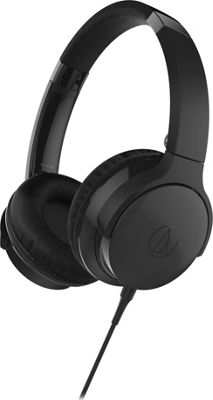 Audio Technica SonicFuel On-Ear Headphones with Mic & Control Black - Audio Technica Headphones & Speakers