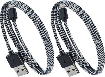 PURTECH Apple MFI Certified Lightning Cable 3.3 Feet Tough-Braided Extra-Strong Jacket - Sync/Charge - 2PK Black / White - PURTECH Electronic Accessories