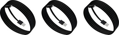 PURTECH Apple MFI Certified Lightning Cable 10 Feet Strong Jacket - Sync/Charge - 3PK Jet Black - PURTECH Electronic Accessories