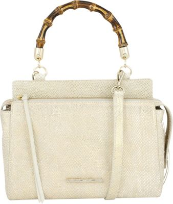 Elaine Turner Olive Satchel Alloy Snake - Elaine Turner Leather Handbags