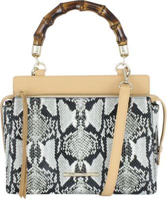 Elaine Turner Olive Satchel Python - Elaine Turner Leather Handbags