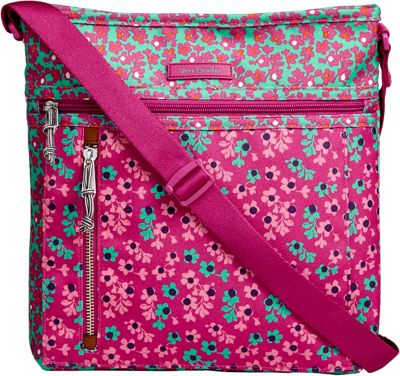 Vera Bradley Travel Ready Crossbody Ditsy Dot - Vera Bradley Fabric Handbags