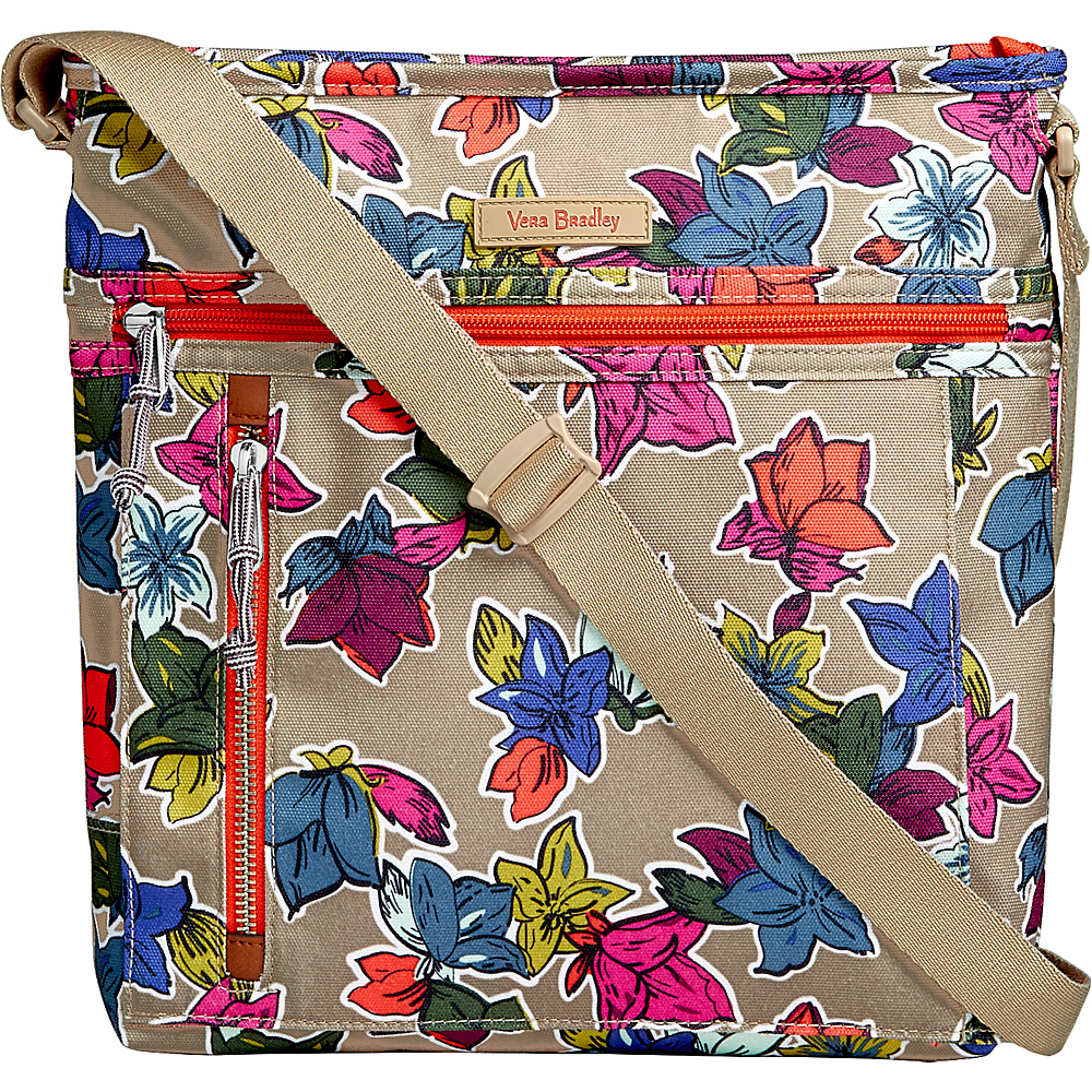 Vera Bradley Travel Ready Crossbody Falling Flowers Neutral - Vera Bradley Fabric Handbags - Handbags, Fabric Handbags
