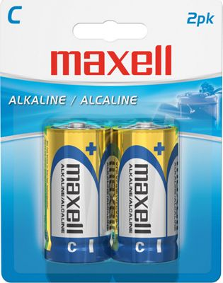 Maxell 12 Count 2Pk C Alkaline Battery Gold - Maxell Portable Batteries & Chargers